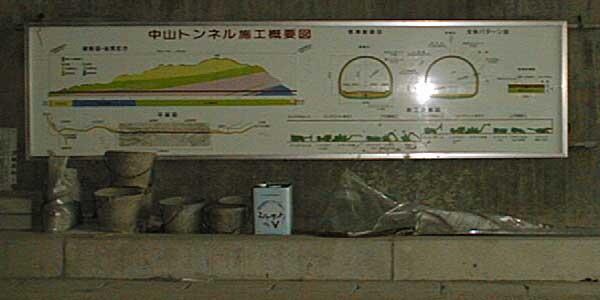写真:中山トンネル施工概要図