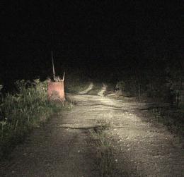 写真:トンネルへの道